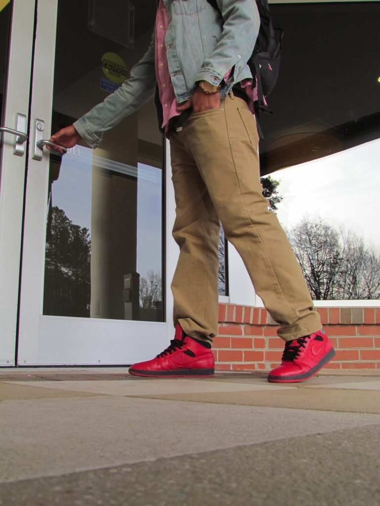 Freshman Justin Morrison was detained in the Atrium by Campus Police on Feb. 6 when another student reported that he was wearing stolen sneakers.