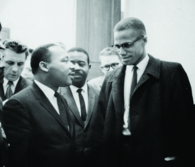 [Martin Luther King and Malcolm X waiting for press conference] [1964 March 26] Trikosko, Marion S., photographer