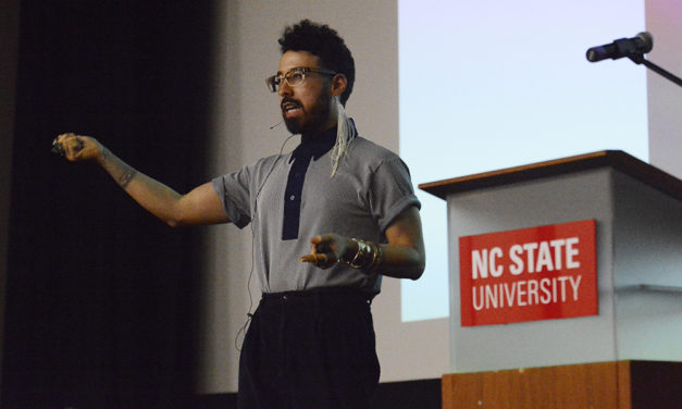 Buzzfeed's Curly Gives Keynote Speech at NC State