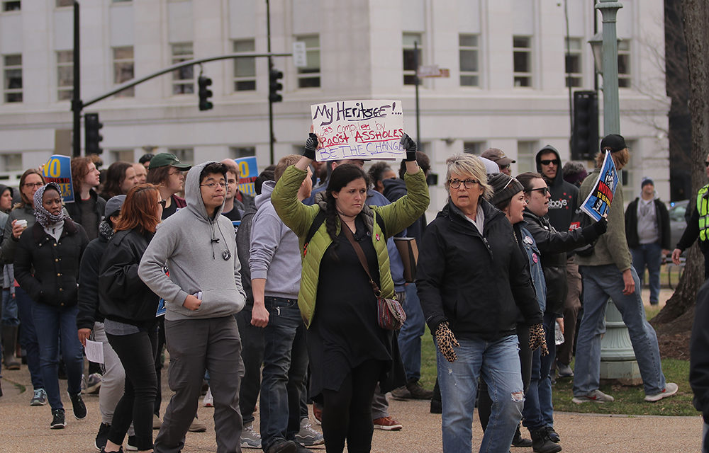 Students Organize Anti-Confederate Rally at State Capitol